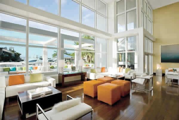 Hilton Fort Lauderdale Marina lobby