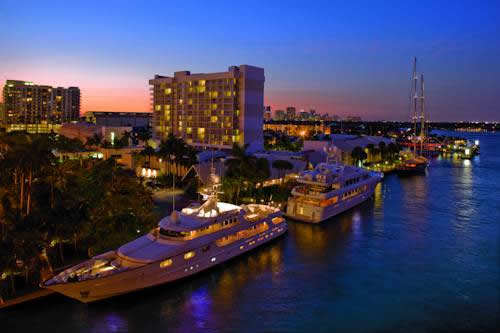 hilton-fort-lauderdale-marina-intracoastal-night